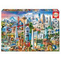 Puzzle 1500 Peças Símbolos Da América Do Norte - Educa Imp