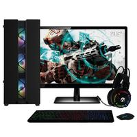 "Pc Gamer Amd Athlon 3000g (placa De Vídeo Radeon Vega 3) Monitor 21.5"" Full Hd 8gb Ddr4 Ssd 480gb 500w Skill Cool"