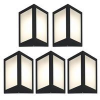 Luminária De Parede Triangular Preto Kit Com 5