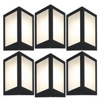 Luminária De Parede Triangular Preto Kit Com 6