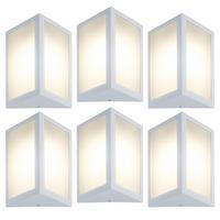 Luminária De Parede Triangular Branco Kit Com 6